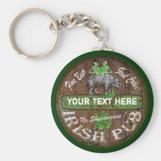 Personalized Irish pub sign Keychain
