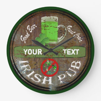 Personalized Irish pub sign Large Clock