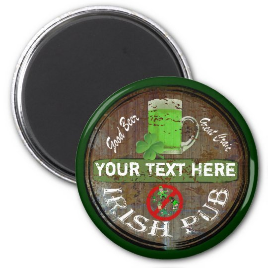 Personalized Irish pub sign Magnet