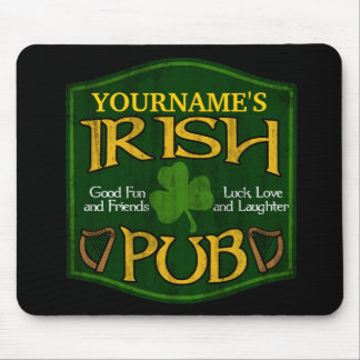 Personalized Irish Pub Sign Mouse Pad