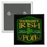 Personalized Irish Pub Sign Pin