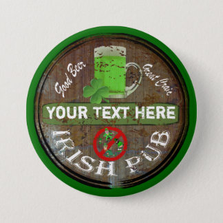 Personalized Irish pub sign Pinback Button