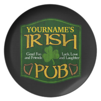 Personalized Irish Pub Sign Plate