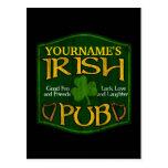 Personalized Irish Pub Sign Postcard