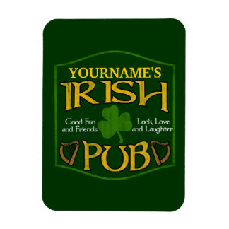 Personalized Irish Pub Sign Rectangular Photo Magnet