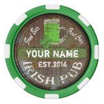 Personalized Irish Pub Sign Set Of Poker Chips at Zazzle
