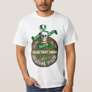 Personalized Irish pub sign St Pats T-Shirt