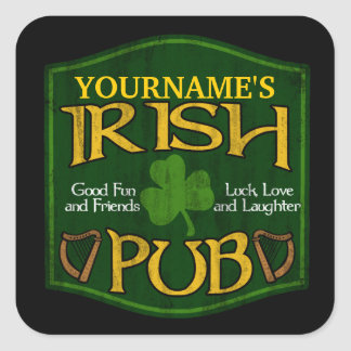 Personalized Irish Pub Sign Stickers