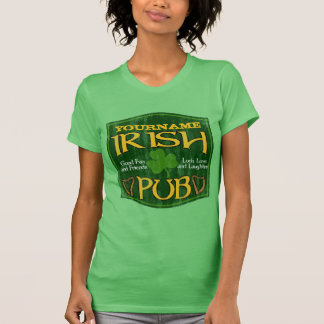 Personalized Irish Pub Sign Tee Shirt