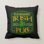 Personalized Irish Pub Sign Throw Pillow