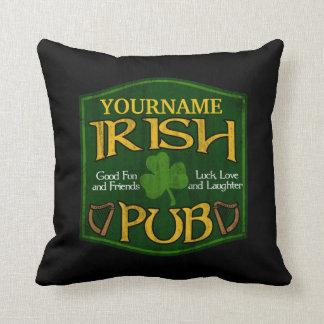Personalized Irish Pub Sign Throw Pillows