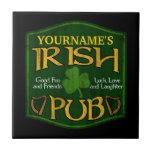 Personalized Irish Pub Sign Tile