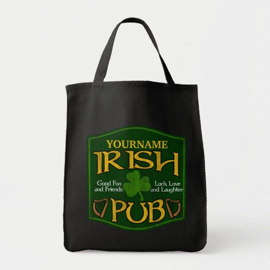 Personalized Irish Pub Sign Tote Bag
