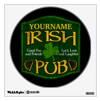 Personalized Irish Pub Sign Wall Decal