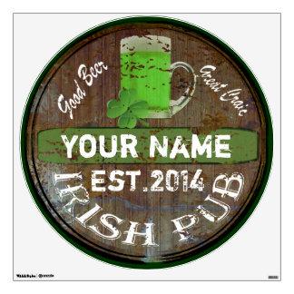 Personalized Irish pub sign Room Decal