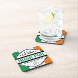 "Personalized Irish Pub Tavern for Couples Coaster<br><div class=""desc"">This funny personalized bar coaster set makes the perfect wedding or anniversary gift for irish couples and beer lovers! Add the groom &amp; bride&#39;s or husband &amp; wife&#39;s first initials and last name, and their wedding year to create a unique keepsake that is sure to bring smiles for years to...</div>"