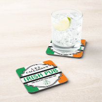 Personalized Irish Pub Tavern for Couples Coaster