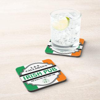 Personalized Irish Pub Tavern for Couples Coaster