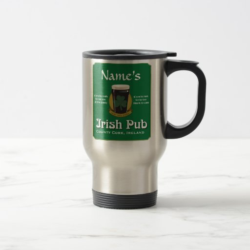 Personalized Irish Pub Travel Mug