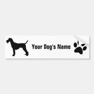 Personalized Irish Terrier アイリッシュ・テリア Car Bumper Sticker