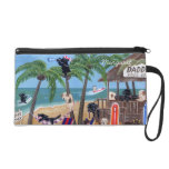 Personalized Island Summer Vacation Labradors Wristlet Purses
