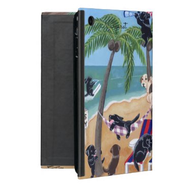 Beach Themed Personalized Island Summer Vacation Labradors case iPad Mini Cover