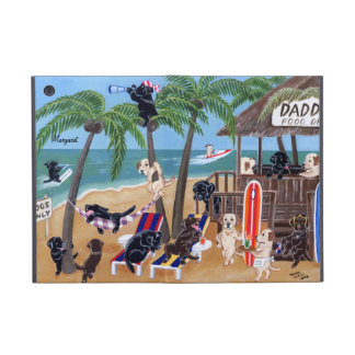 Personalized Island Summer Vacation Labradors Covers For iPad Mini