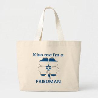 Personalized Israeli Kiss Me I'm Friedman Canvas Bag