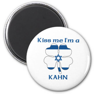 Personalized Israeli Kiss Me I'm Kahn Fridge Magnet