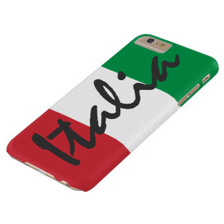 Personalized Italia Flag Barely There iPhone 6 Plus Case
