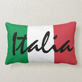 Personalized Italia Italian Flag Lumbar Pillow
