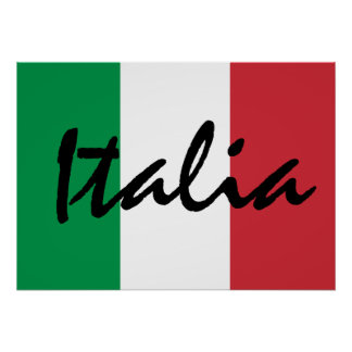 Personalized Italia Italian Flag Poster