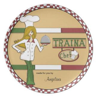 Personalized Italian Chef Plate