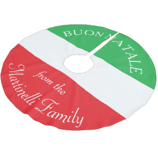 Personalized Italian Flag Christmas Tree Skirt