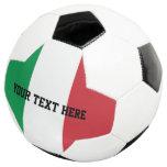 Personalized Italian flag soccer ball gift idea