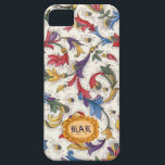 "Personalized Italian Florentine Phone Case<br><div class=""desc"">Classic Italian florentine design with a gold monogram frame.</div>"