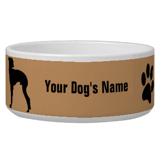 Personalized Italian Greyhound イタリアン・グレーハウンド Bowl