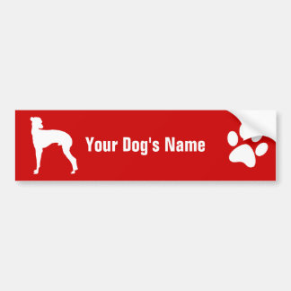 Personalized Italian Greyhound イタリアン・グレーハウンド Bumper Sticker