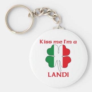 Personalized Italian Kiss Me I'm Landi Key Chains