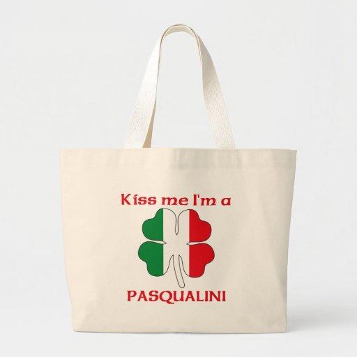 Personalized Italian Kiss Me I'm Pasqualini Jumbo Tote Bag
