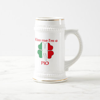 Personalized Italian Kiss Me I'm Pio 18 Oz Beer Stein