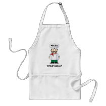Personalized Italian Pizza Chef Cooking Gift Adult Apron