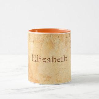 Personalized italian style terracotta brick wall mug