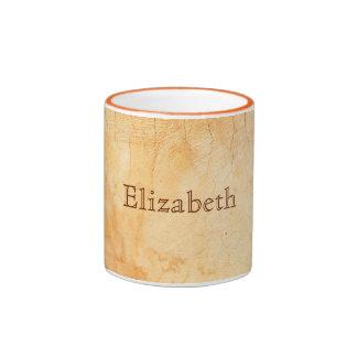 Personalized italian style terracotta brick wall ringer coffee mug