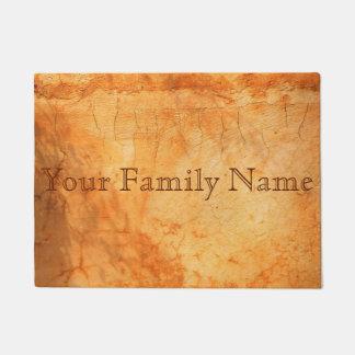 Personalized Italian terracotta colored brick wall Doormat