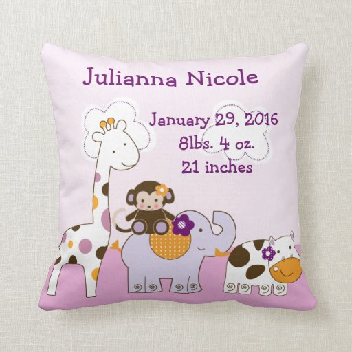 Personalized Jacana Girl Animals Pillow Keepsake