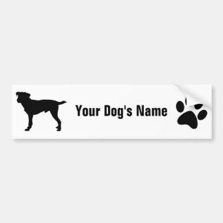 Personalized Jack Russell Terrier ジャック・ラッセル・テリア Car Bumper Sticker