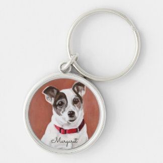 Personalized Jack Russell Terrier Keychain