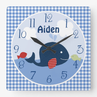 Personalized Jackson Whale/Fish/Ocean Clock