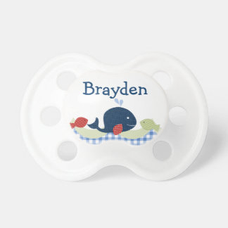 Personalized Jackson Whale Sealife Pacifier